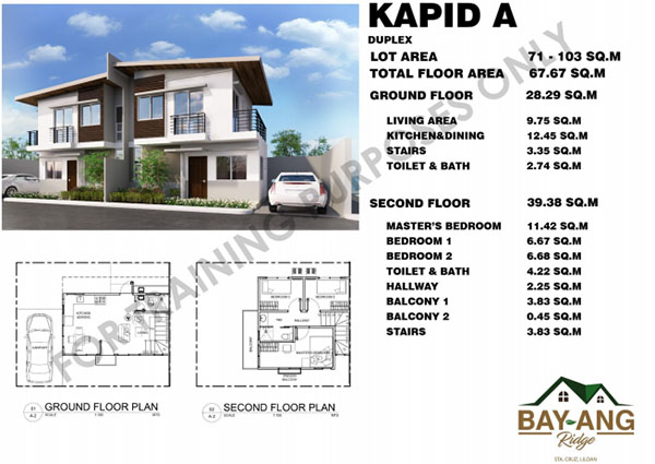 kapid duplex model in bay-ang ridge in liloan