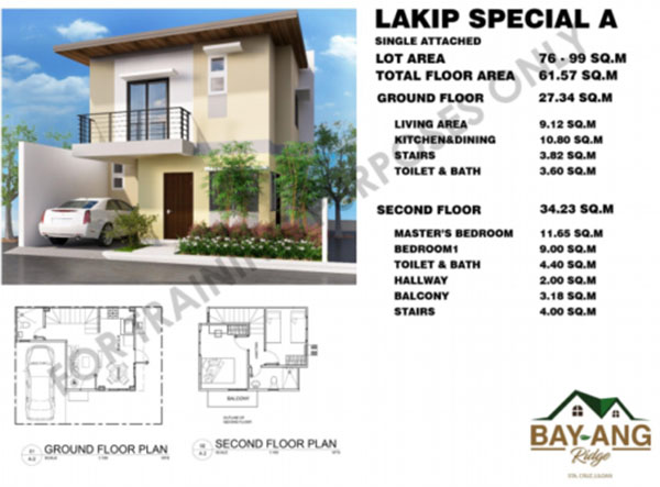 lakip model single detached house for sale in liloan