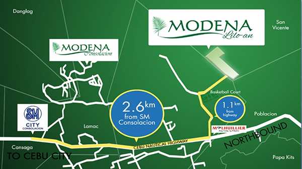 vicinity map of modena liloan