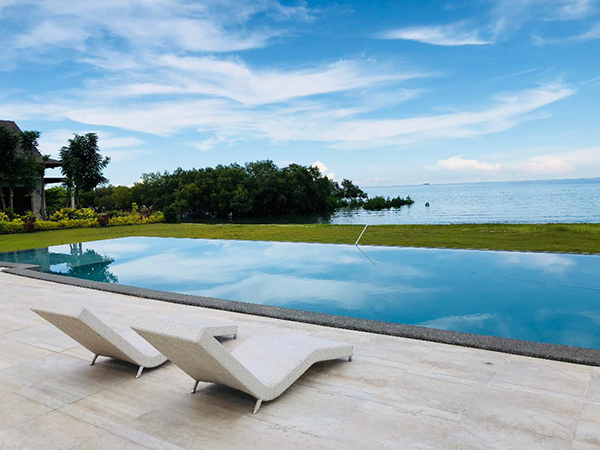 the tantalizing view in aduna beach villas