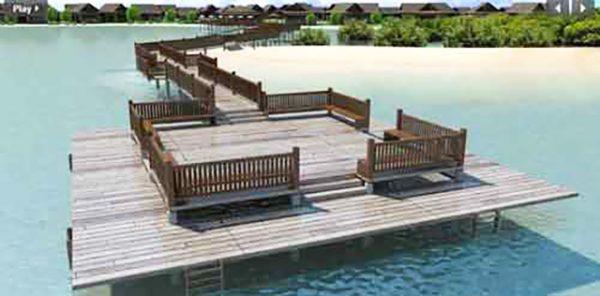 board walk in aduna beach villas