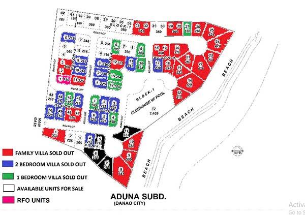 latest inventory of aduna beach villas