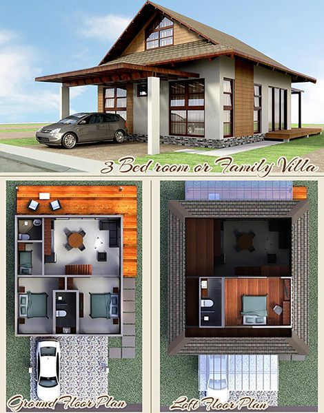 3 bedroom beach villas floor plan