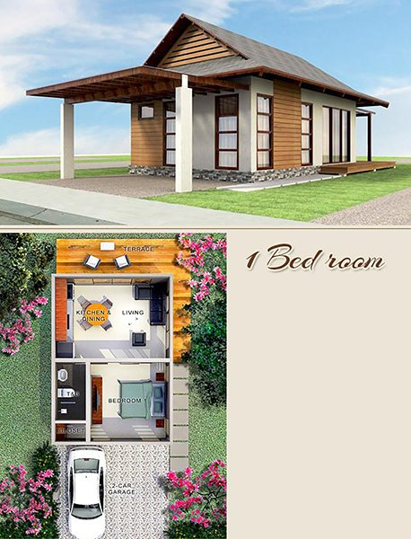1 bedroom villas floor plan