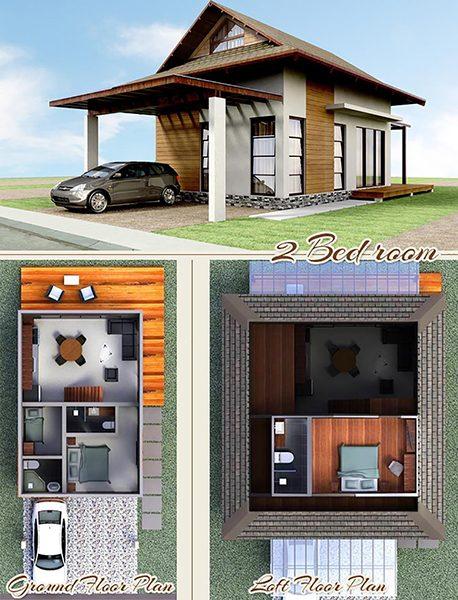 2 bedroom beach villas floor plan