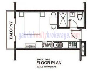 Trillium Residences Studio Floor Plan