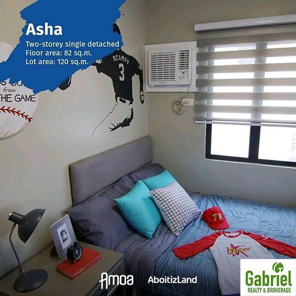 bedroom in the asha model
