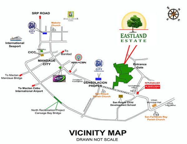 vicinity map of eastland estate liloan