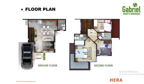 Hera single detached floor plan