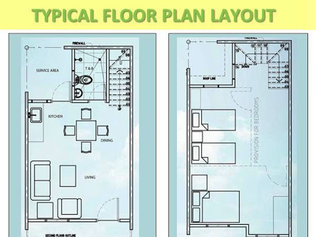 floor plan of the townhouse