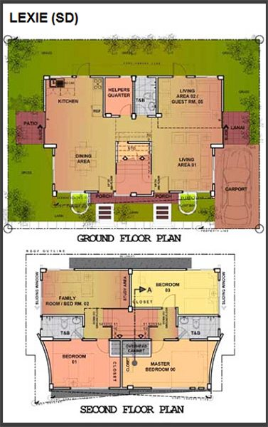 lexie model single detached floor plan