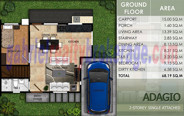 adagio model floor plan (1st floor)
