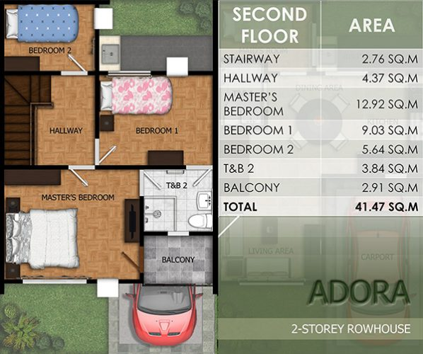 townhouse floor plan (2nd floor)