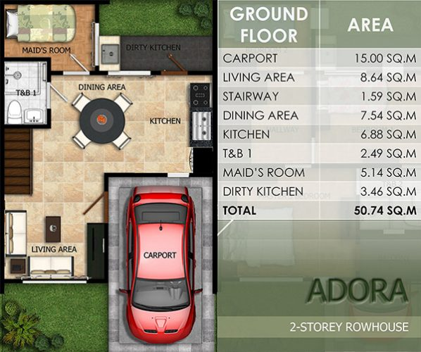 townhouse floor plan (1st floor)