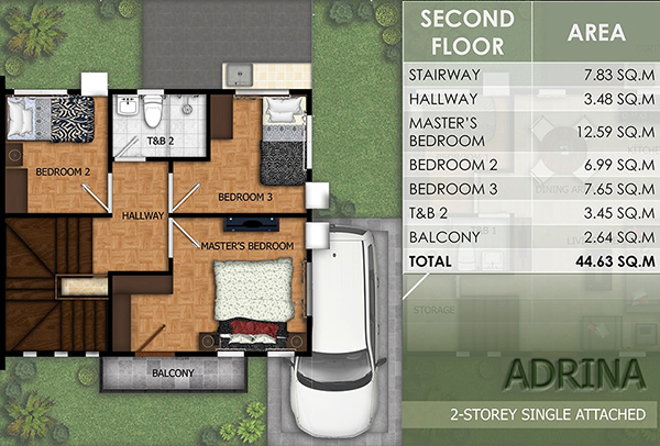 adrina model floor plan (2nd floor)