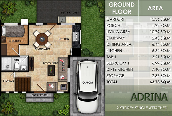adrina model floor plan (1st floor)