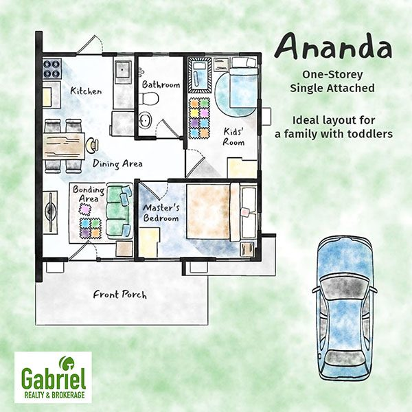 one single attached floor plan