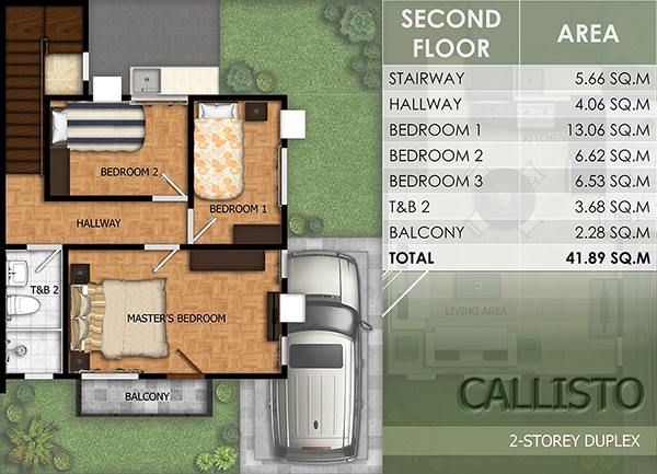 duplex model floor plan (2nd floor)