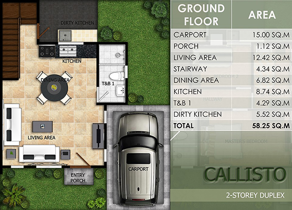 duplex model floor plan (1st floor)