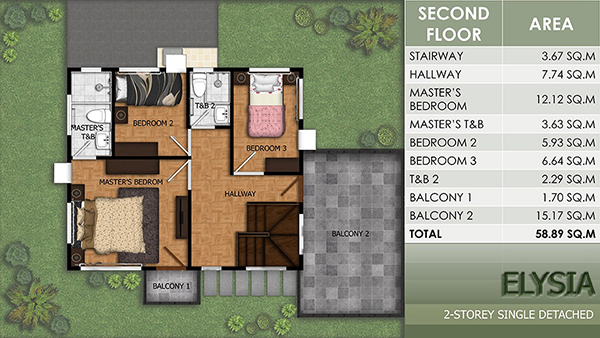 elysia model floor plan (2nd floor)