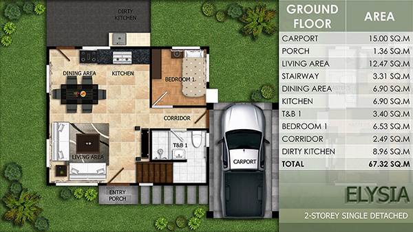 elysia model floor plan (1st Floor)
