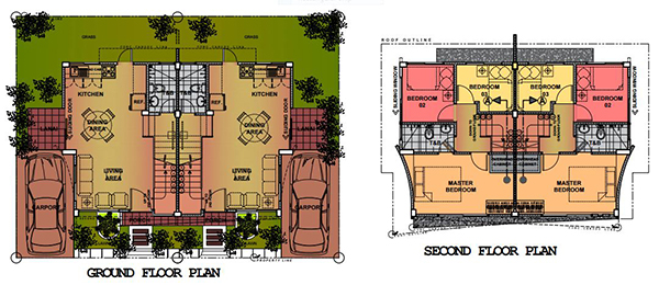 duplex model floor plan in eastland estate liloan