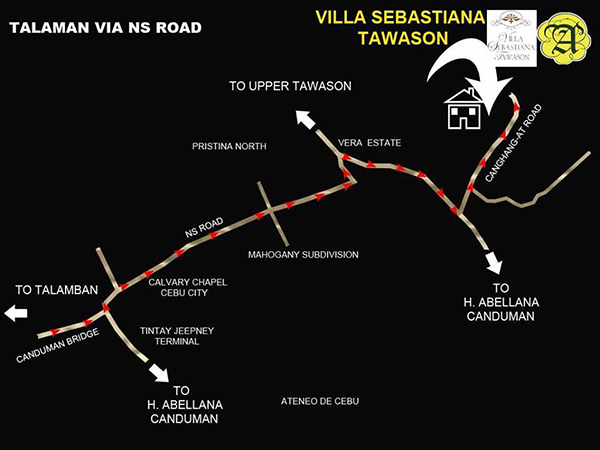 vicinity map of villa sebastiana subdivision