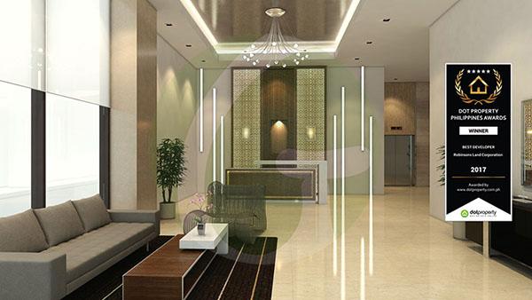 reception area in the condominium