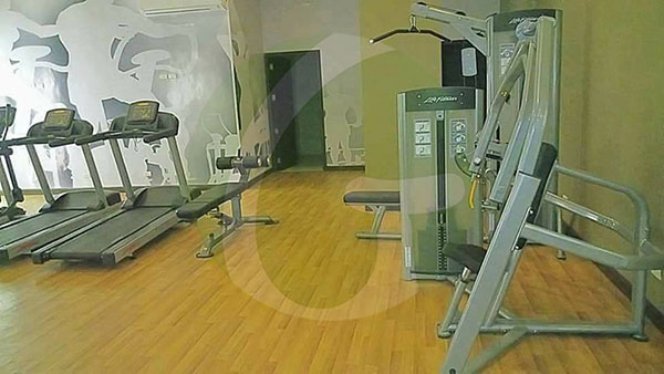 some equipment at the gym