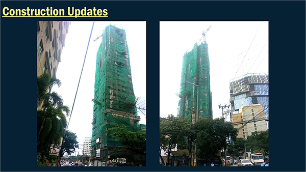 construction update of cityscape grand tower in ayala