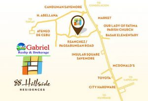 vicinity map of 88 hillside residences