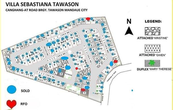 master plan of villa sebastiana