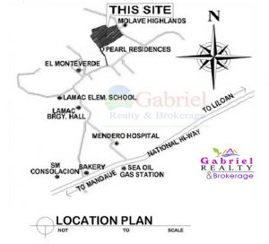 vicinity map of the pearl residences consolacion
