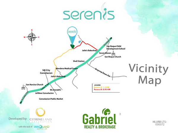 vicinity map of serenis north