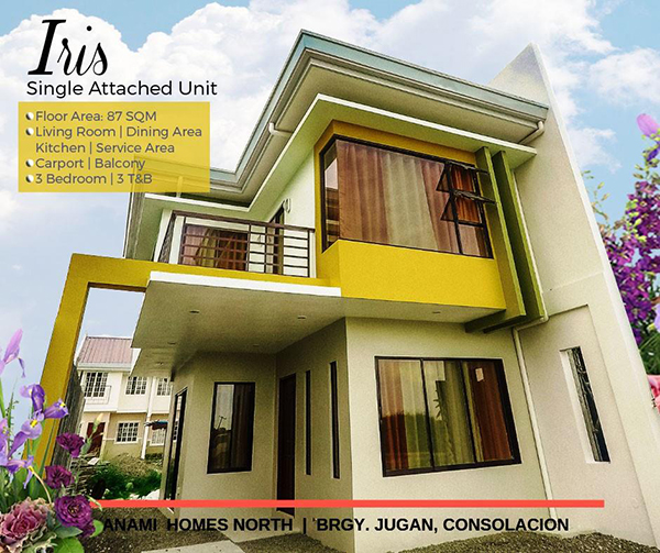 single attached house for sale in consolacion