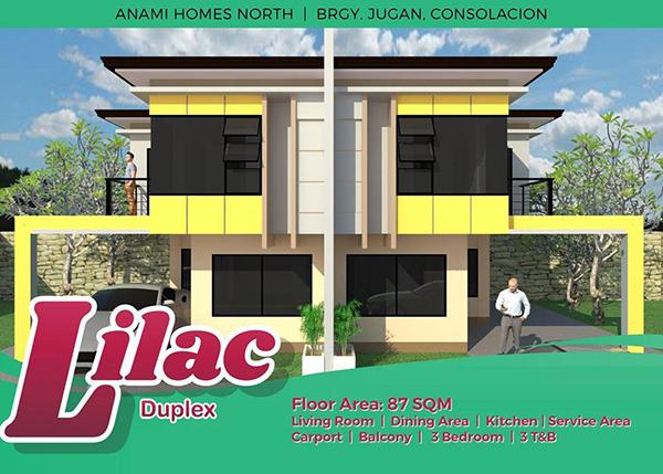 duplex model unit in anami homes north