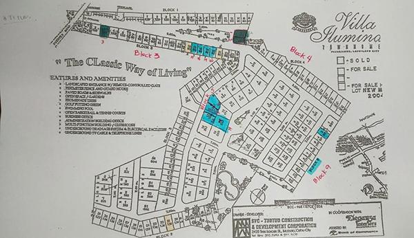 master plan of villa illuminada mactan