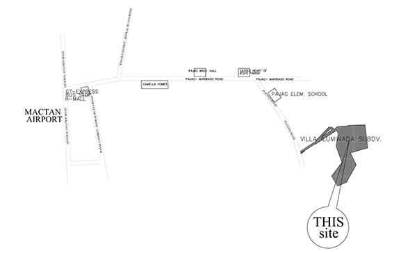 vicinity map of villa illuminada mactan