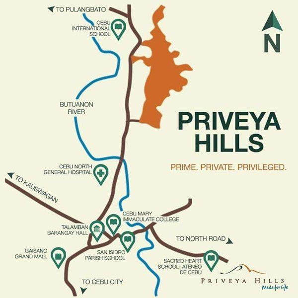 location of priveya hills in front of Cebu International School