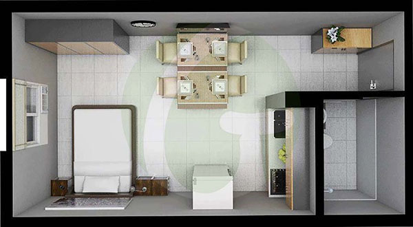 studio unit flloor plan