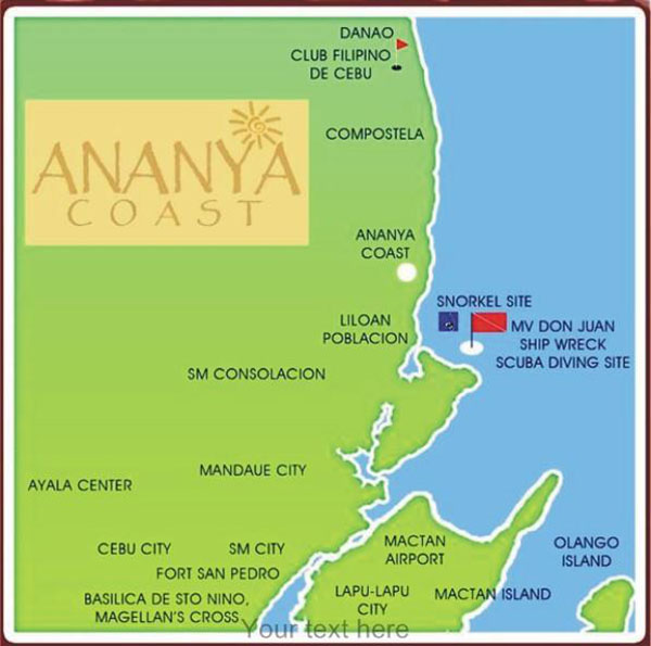 ananya coast liloan vicinity map