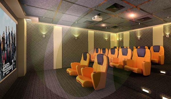 mini theater room in the condo