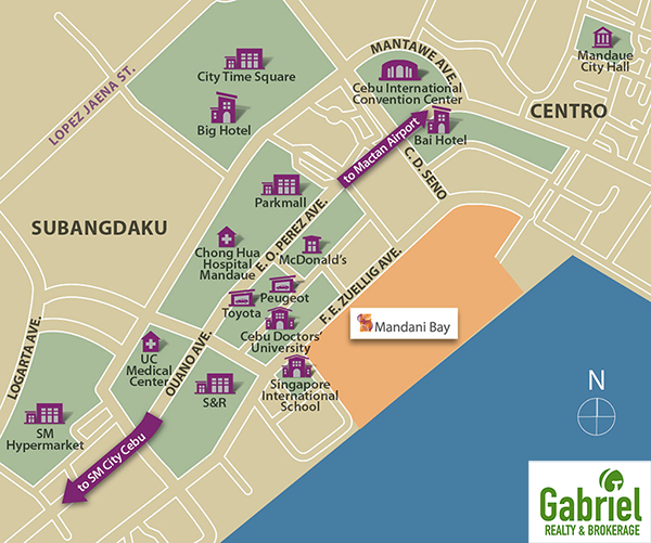 vicinity map of mandani bay