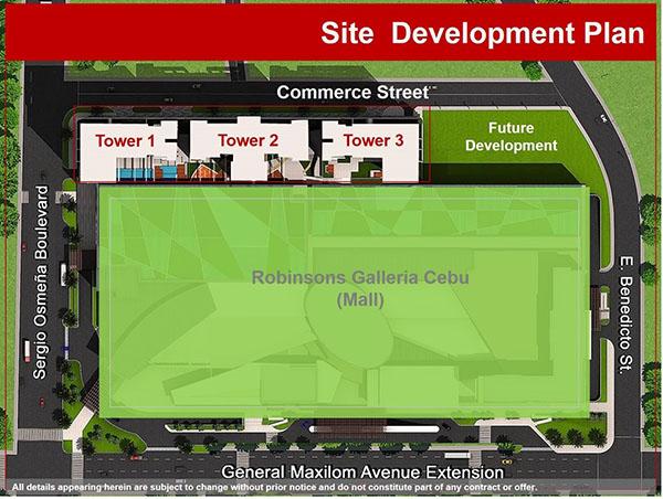 site development plan of the condo