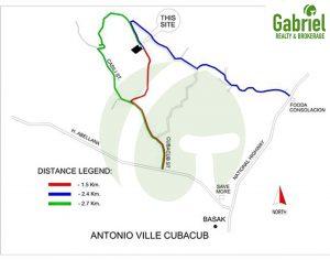 vicinity map of antonioville subdivision