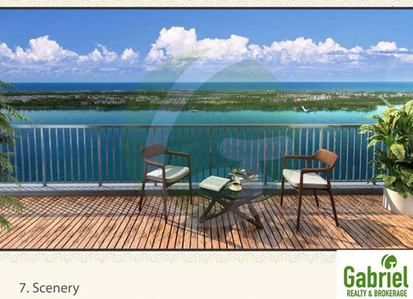 the view from the condominium balconly in mandani bay