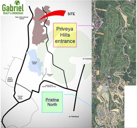 vicinity map of priveya hills subdivision