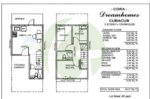 FLOOR PLAN OF TOWNHOUSES