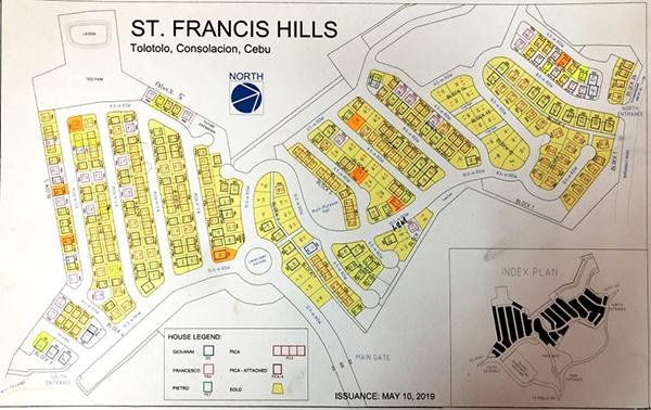 site development plan of st. francis hills consolacion