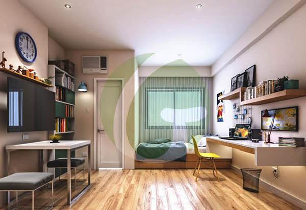 studio home office in northwoods condominium